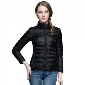 Womens Stand-up Collar Jacket K-6002 Black