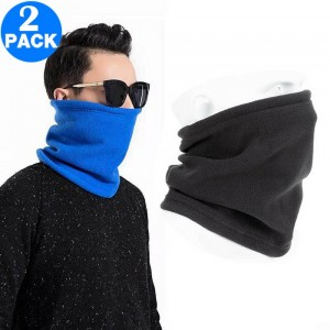 2 X Unisex Multifunctional Neck Warmers Blue and Grey