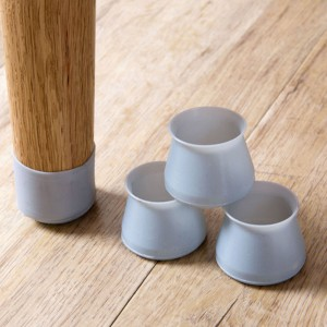 12X Home Decor Furniture Silicon Protection Cover Table Legs Protection Lids-Grey