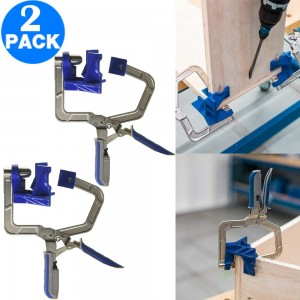 2 Pack 90 Degrees Auto Adjustable Corner Clamps DIY Woodworking Tools Right Angle Clamps