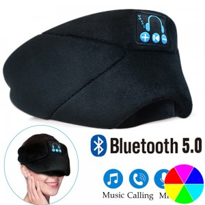 USB Rechargeable Bluetooth 5.0 Fully Shaded Sleeping Eye Mask Hands Free Wireless Call Microphone Music Headset Style 1