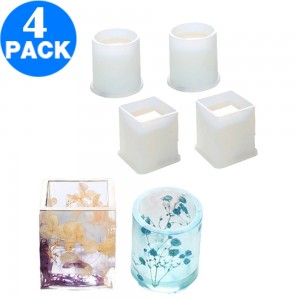 4 X DIY Resin Crafts Pen Holder Mould Silicone Mold