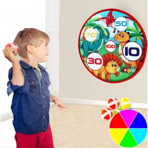 Kids Sports Toy Dart Board Darts Balls Target Game with 5 Balls Using Hook and Loop Fasteners