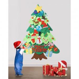 DIY Felt Xmas Tree Christmas Ornaments Set for Kids