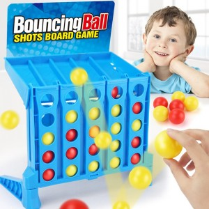 Connect 4 Shots Board Games Set Family Game Ball Toys for Kids