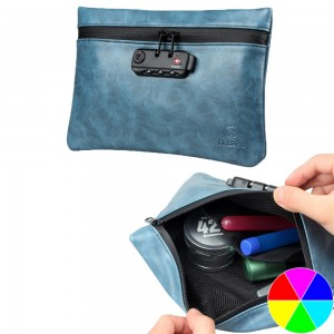 17 x 24.5cm Colorful Smell Proof Bag Pouch Case Container with Lock