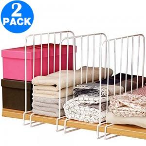 2 X Closet Shelf Divider Shelving Separator