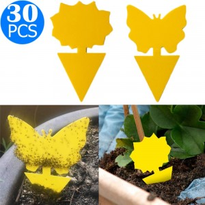 30PCS Sticky Fruit Fly Trap Bug Killers for Plant
