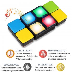 Kids Musical Magic Cube Block Matching Color Puzzle Game Toy Best Christmas Birthday Xmas Gifts