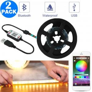 2 X App Control RGB Waterproof Smart Bluetooth LED Strip Lights
