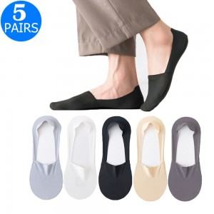 5 Pairs of Women Summer Breathable Super Thin Boat Socks
