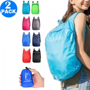 2 X Collapsible Backpack Foldable Lightweight Traveling Backpack Hiking Daypack for Travel Camping Outdoor