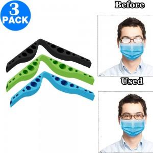 3 X Washable Reusable Eyeglasses Anti Fog Nose Bridge Strip Face Cover Inner Bracket Black Blue Green