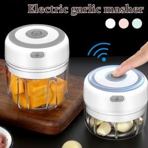 5 Pieces Electric Rechargeable Mini Garlic Chopper Kitchen Meat Chopper Food Blender