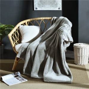 Flannel Fleece Blanket Super Soft Cozy Bed Blanket Sofa Throw Blanket WITHOUT Pillow Case Light Grey
