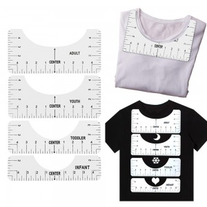 4Pcs T Shirt Alignment Rulers Guide DIY Craft Tools Kit T Shirt Centering Tools Set Adult Youth Toddler Infant