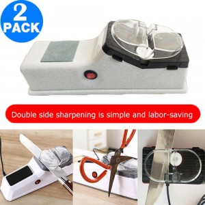 2 X USB Electric Knife Sharpener Kitchen Knives Sharpening System Quickly Sharpening Tool