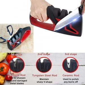 4 In 1 Kitchen Knife and Scissor Sharpener Blade Sharpening Tool Tungsten Steel Ceramic Scissor Sharpener