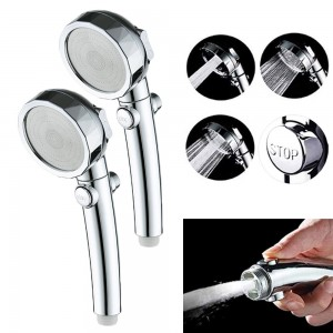2 X Multifunction 3 Spray Settings Hight Pressure Handheld Shower Head Sprays with On Off Switch