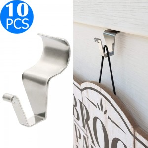 10PCS No Hole Needed Vinyl Siding Hanger Hooks Set Outdoor Siding Clips Decorations Stainless Steel Hanger