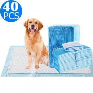 40PCS 60x60cm Absorbent Puppy Dog Pet Training Pads Cat Indoor Toilet Mats
