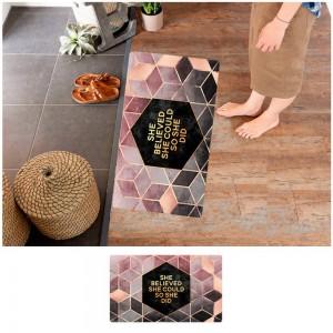 45X75CM Non-Slip Waterproof Kitchen Mat Home Floor Rug Door Carpet Oil-proof Mat Style 2