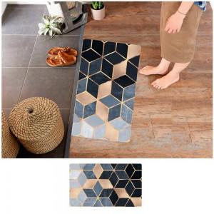 45X75CM Non-Slip Waterproof Kitchen Mat Home Floor Rug Door Carpet Oil-proof Mat Style 3