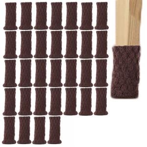 32PCS Chair Socks Chair Leg Protectors Table Leg Sleeves Floor Protectors Furniture Socks Chair Leg Covers Dark Brown
