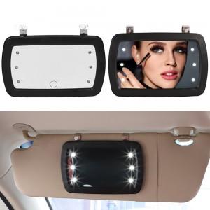 2 X Car Sun Visor MirrorS Touchscreen Makeup MirrorS with 6 LED Lights
