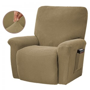 Stretch Recliner Cover Soft Recliner Chair Slip Cover Recliner Couch Slipcover Lift Reclining Cover Light Brown