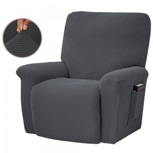 Stretch Recliner Cover Soft Recliner Chair Slip Cover Recliner Couch Slipcover Lift Reclining Cover Grey