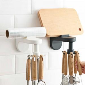 2 X Self-Adhesive Kitchen Wall Mounted Cooking Utensil Hanger Hook Organizer Rack