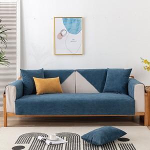 Dark Blue 90x160cm Anti-Cat Scratch Water Resistant Sofa Towel Pet Couch Sofa Cover Home Decor