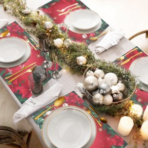 4 X Style 1 Christmas Placemats Xmas Table Mats Christmas Table Decorations