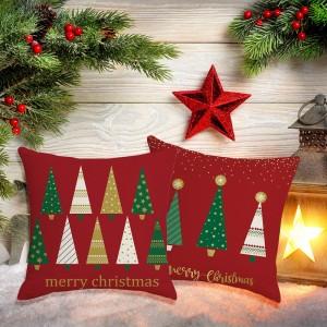 2X Merry Christmas Pillowcase Xmas Throw Pillow Cas Cushion Cover Style 3 4