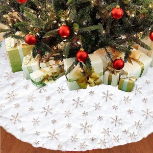 122cm Gold Sequin Christmas Tree Skirt Christmas Decoration Xmas Home Decor