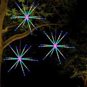 1 X Multicolour Remote Battery Firework Meteor Light Christmas Starburst Lamp