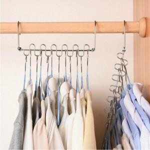 4 X Clothes Pants Hanger Space Saver Closet Organizer Rack