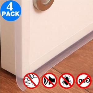 4 Pack 25mmx1m Draft Strips Door Draft Stopper Under Door Seal for Soundproof