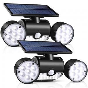 2 X 30 LED Dual Heads Motion Sensor Solar Powered Lights Wall Lights
