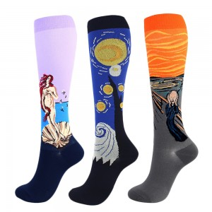 3 Pairs Famous Painting Compression Socks Small Style 4 Style 5 Style 6