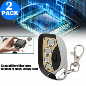 2 Pack 270MHz-433MHz 4 Buttons Garage Door Remote Control Transmitters