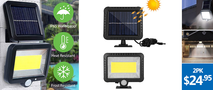 100 LED COB Split Motion Sensor Wall Lights