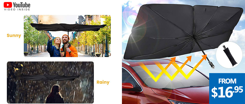 Car Foldable Windshield UV Protector Reflector Umbrella