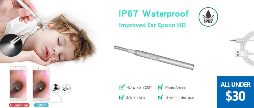 3.9mm Diameter Visual Ultra-Slim HD Ear Scope Camera Ear Cleaner
