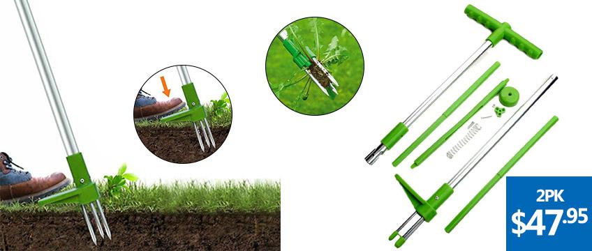 Garden Weed Root Puller & More