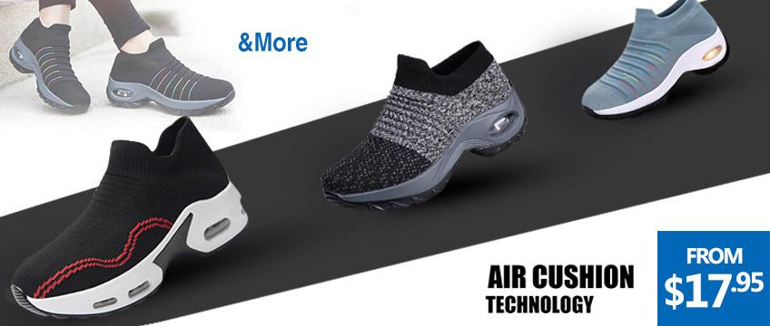 Walking Shaper Trainer Slip on Sock Sneakers